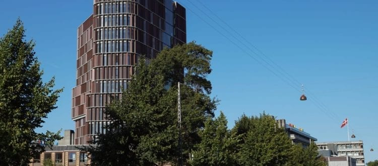 The iconic building the Maersk Tower has rapidly become a landmark structure for Copenhagen Science City