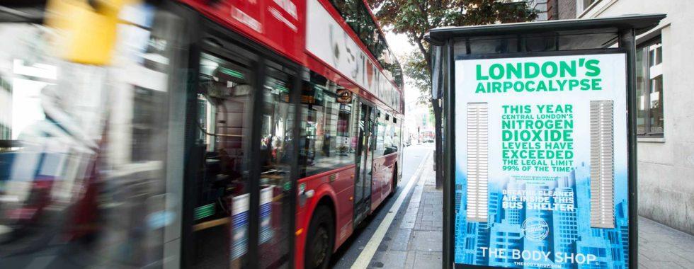 Luftrensende reklameplakater fra Body Shop gjort mulige med teknologi fra Copenyhagen Science City-virksomhed