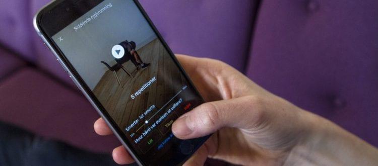 Genoptræningsprogram til mobilen sikrer lægekontakt og forsvarlige øvelser