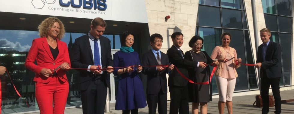 Chinese Danish Organic Food Centre opening ceremony. Company attracted to Copenhagen by Copenhagen capacity in collaboration with Copenhagen Science City