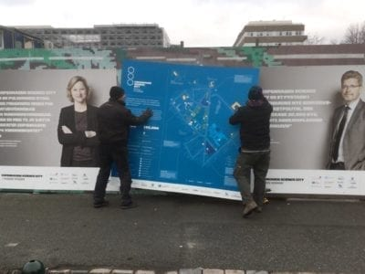 King size map erected in Copenhagen Science City