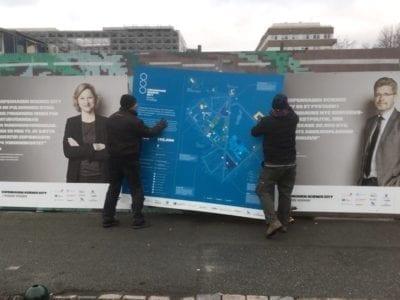 King size map erected in Copenhagen Science City