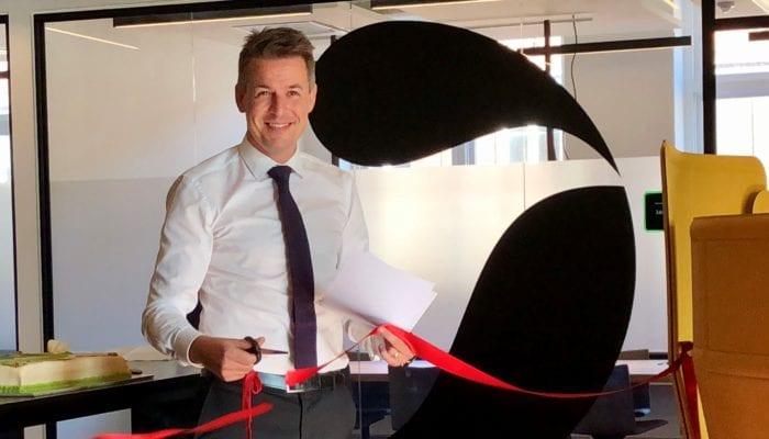 Rasmus Villemoes, Country Chair, Sanofi Denmark, opens new offices in Copenhagen Science City.