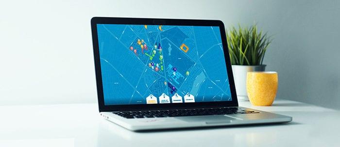 Clickable interactive map of Copenhagen Science City