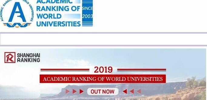 Shanghai Ranking 2019
