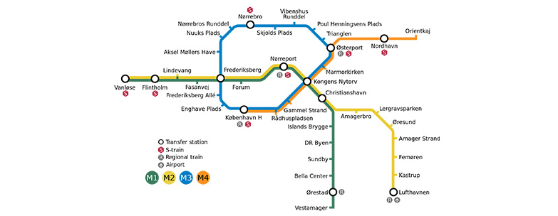 The new Copenhagen Metro line, the