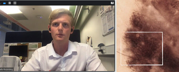 Niels Kvorning, CEO & Founder, Melatech speaking at a Copenhagen Science City Brew Your Own webinar about Artificial Intelligence in start-ups