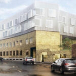 New student accomodations rise on old factory in Hermodsgade