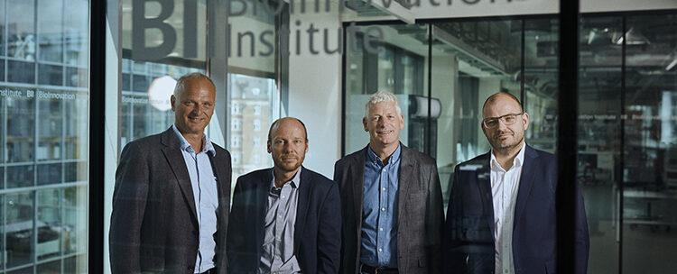 Adcendo 380 Mio_Series A_ Left to right CEO Henrik Stage, Lars Henning Engelholm, Niels Behrendt, COO Christoffer Nielsen