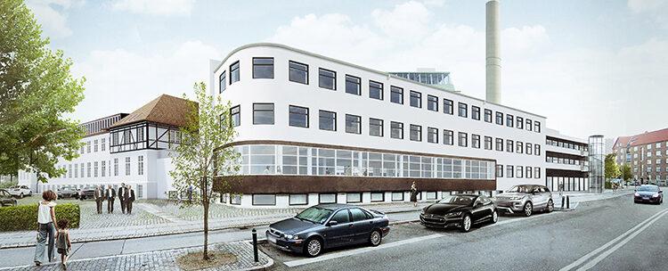 New Cobis-By-Symbion location. Visualisation, Gjøde & Partnere architects