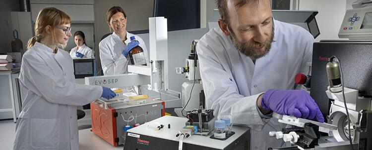 Proteomics Research Infrastructure at University of Copenhagen in Copenhagen Science City. Photo, Mikal Schlosser